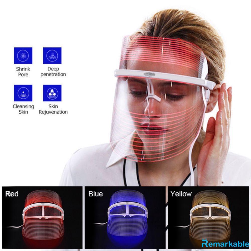 Masker Terapi Wajah Dengan Lampu Led 3 Warna Anti Jerawat ...