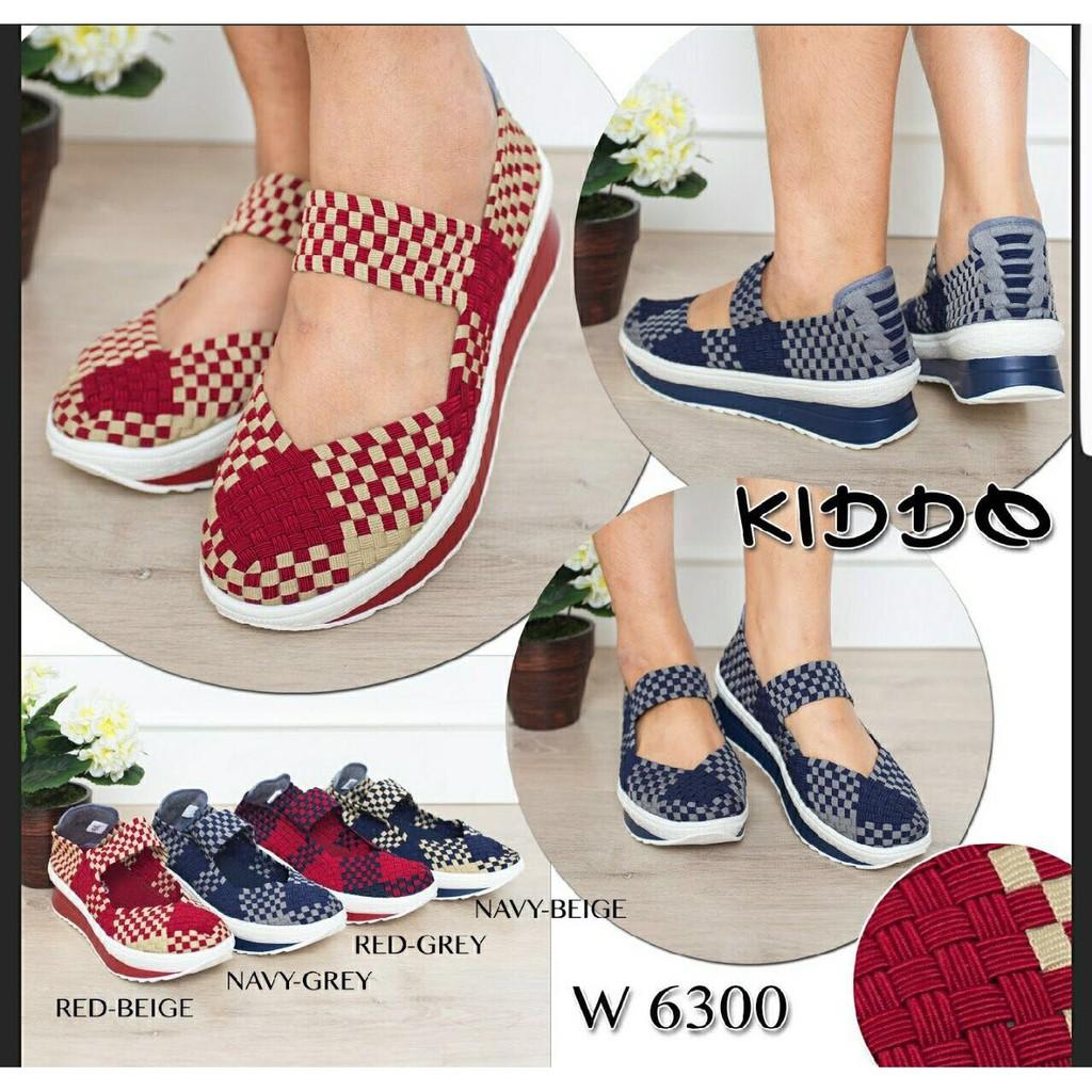 New Sepatu Anyam Kiddo Wedges Type 168 1 Daftar Harga Terlengkap Rajut Flat Include Box Semua Tipe Dapatkan Import Wanita Basic Diskon Shopee Indonesia