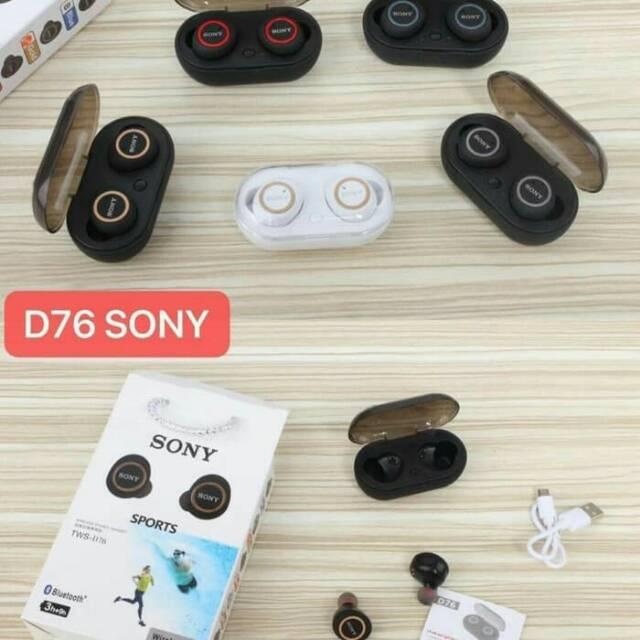 headset bluetooth sport sony TWS D76 wirelles earphone handsfree henset