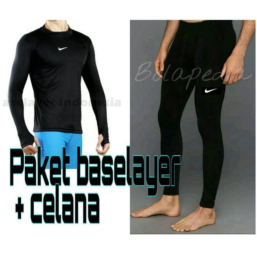 Paket Baselayer Adidas Cowok Kaos Manset Legging Leging Gym Fitness Training Diving Wanita Renang Shopee Indonesia