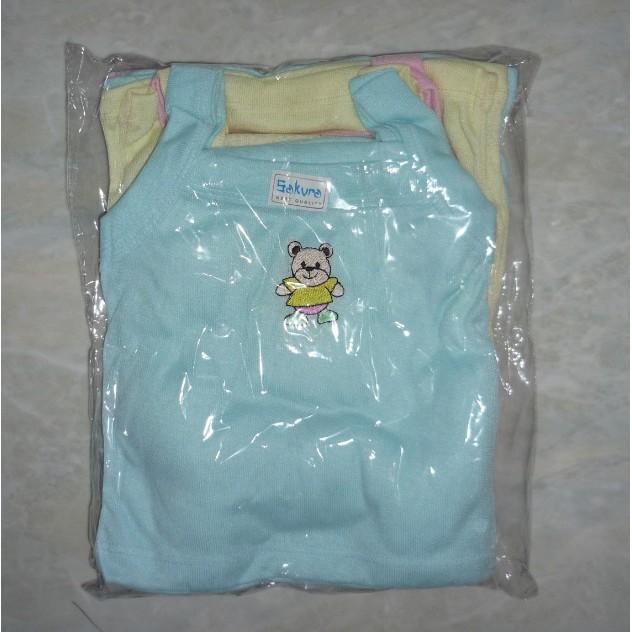 Kaos Bayi Tanpa Lengan / Kaos Dalam / Singlet Warna Newborn PE KDE019 [300gr]