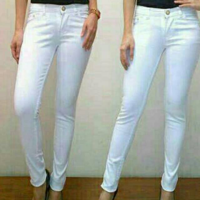 100+  Celana Jeans Putih Terbaru Gratis