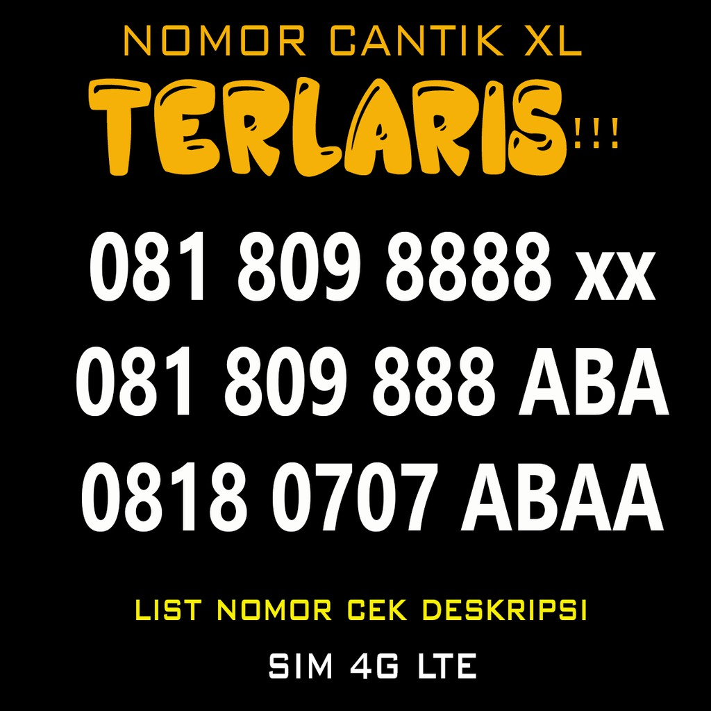 Obral Nomor Cantik XL triple abab aabb rapih - Nomer Cantik XL Triple Double Triple 08777555   Shopee Indonesia