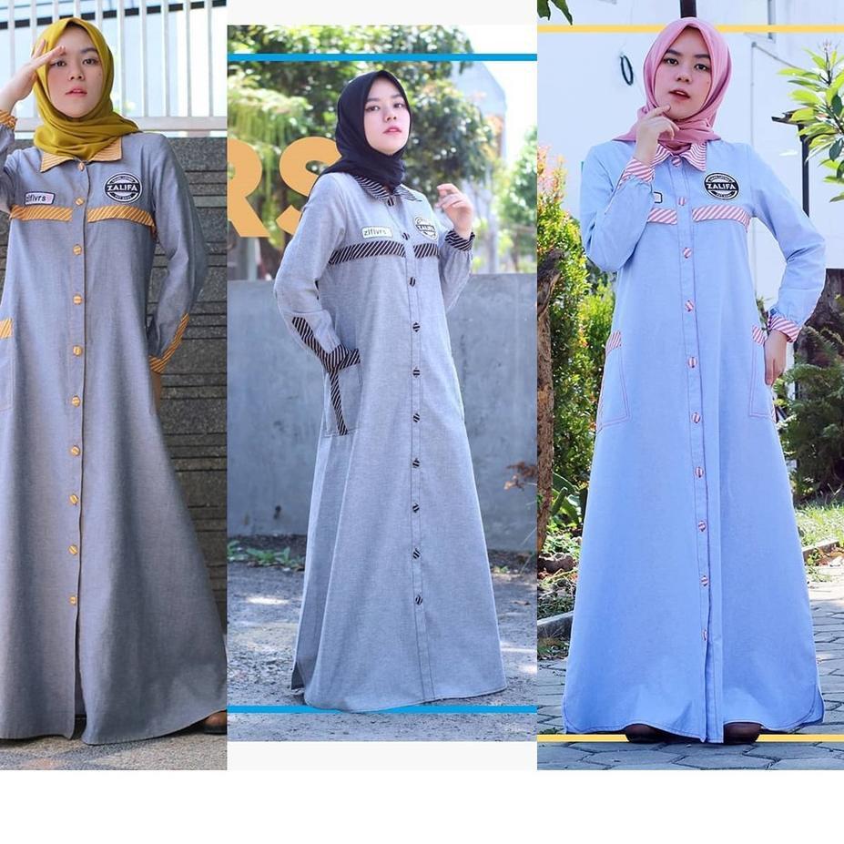 TREND..  Zalifalovers Dress by Zalifa Exclusive Collection - Baju Muslim Wanita - Gamis  <<>>