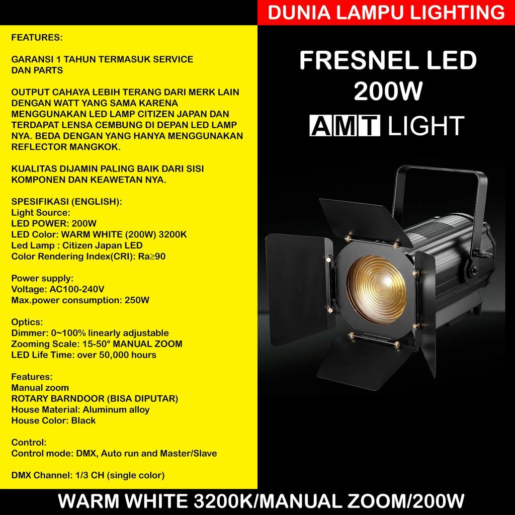 Murah Lampu Fresnel Led 200w Warm White 3200k Manual Zoom Lampu Sorot Panggung Studio Lighting Shopee Indonesia