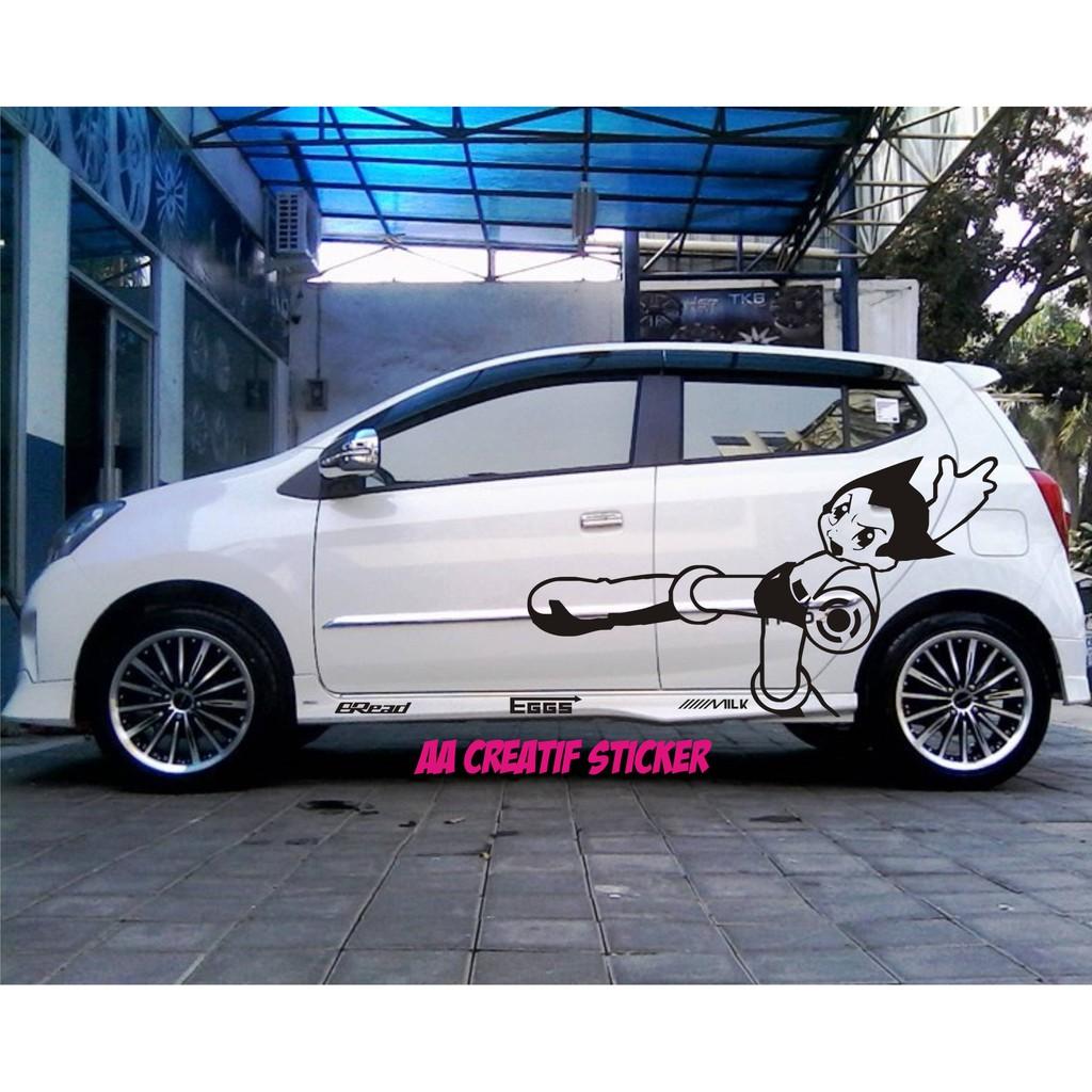 Cutting Sticker Mobil Kartun Karakter Atom Bisa Untuk Agya Ayla Avanza Brio Calya Sigra Ignis Spark Shopee Indonesia
