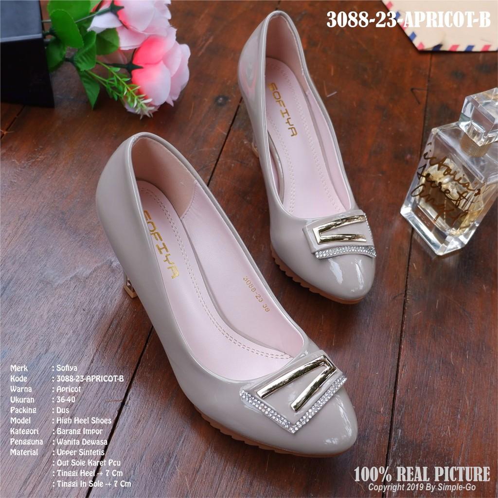 Habisin Stock Sepatu Wedges Sofiya Wanita Import 3088 23 36 40