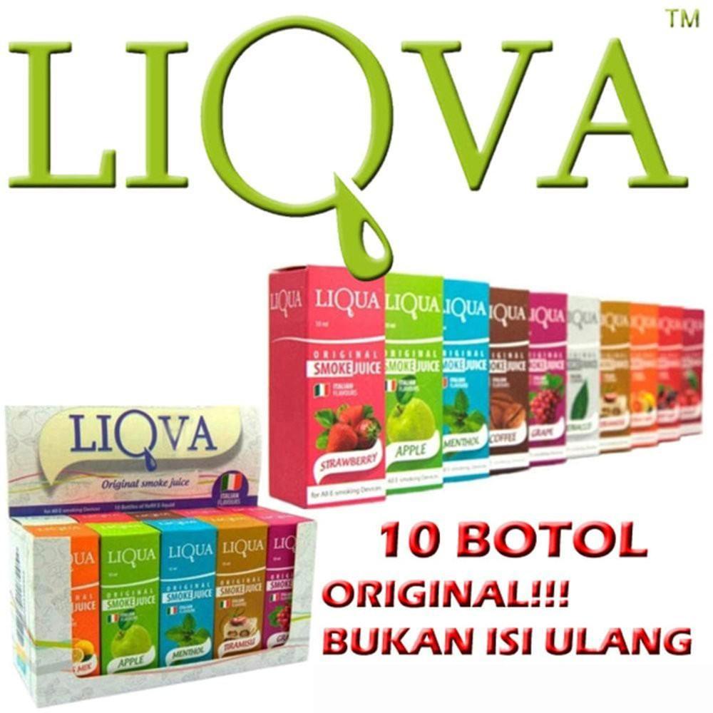 Liquid LIQVA Original Bukan Isi Ulang 1 Kotak/ 10 Botol isi 10ml | Shopee Indonesia