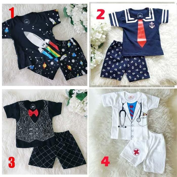 Baju Bayi Laki Laki Umur 0 6 Bulan