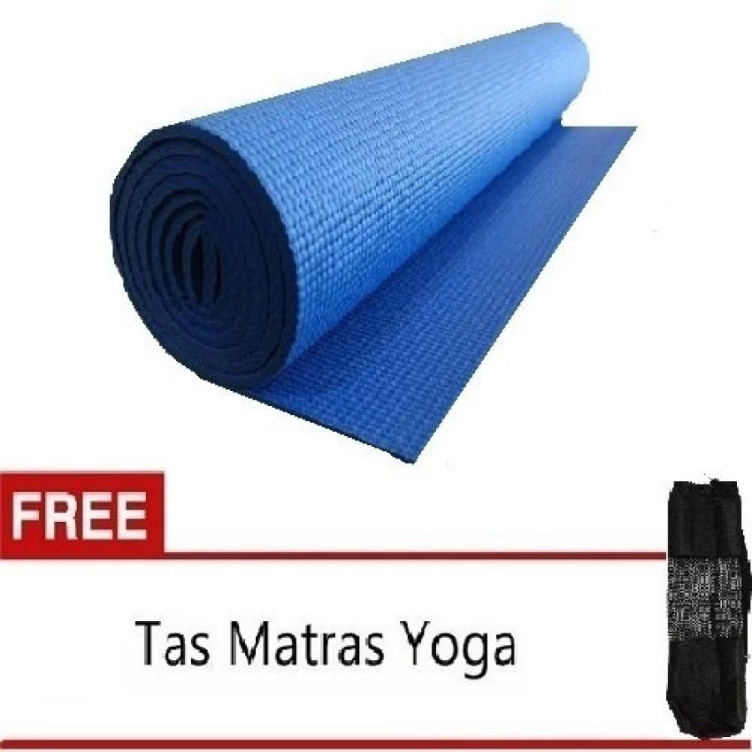 Anekaimportdotcom Matras Yoga - Yoga Mat - Pilates Mat - Biru + Gratis Yoga Bag   Shopee Indonesia