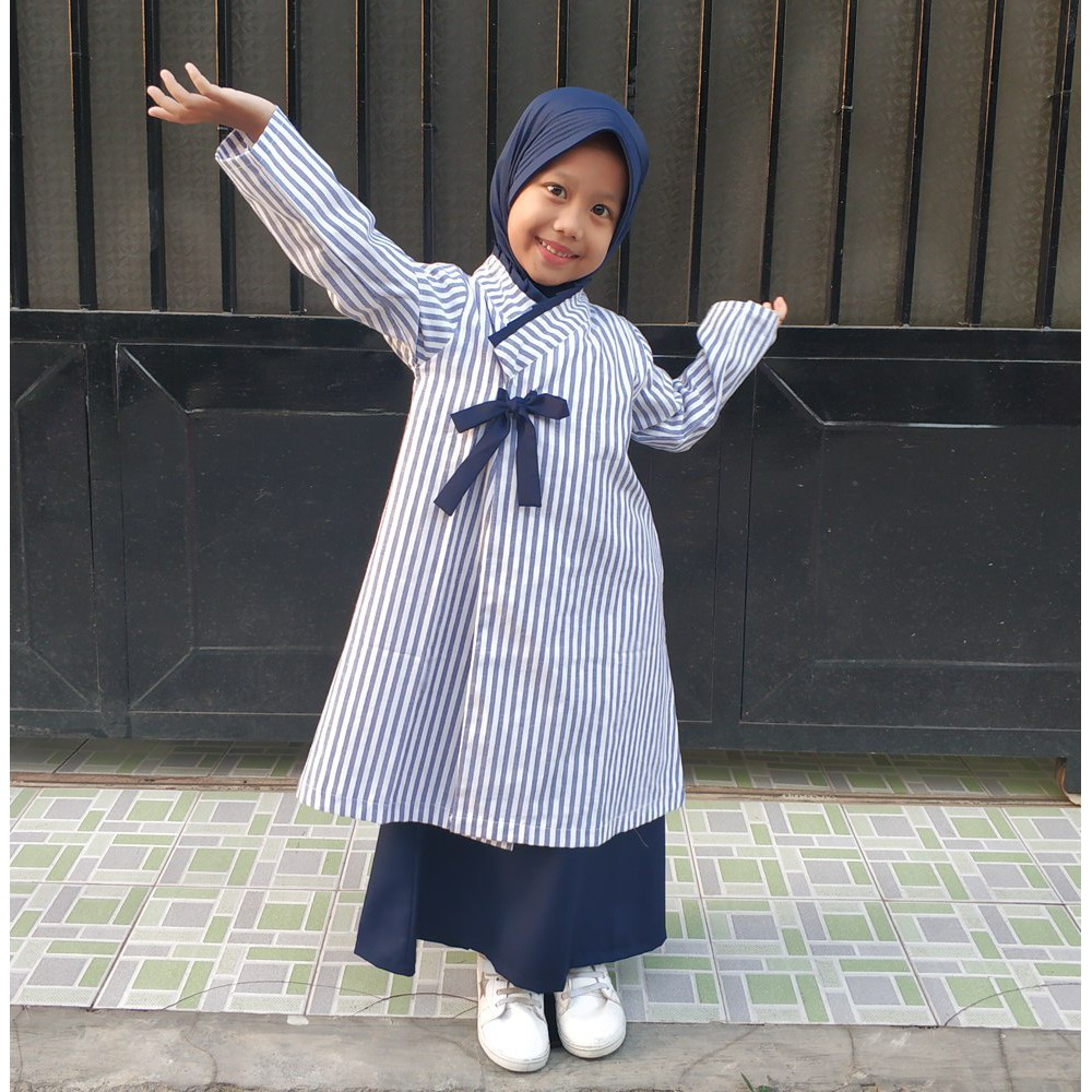 Gamis anak hanbok oh baby XW10/ gamis anak hanbok terbaru/ gamis hanbok  anak/ busana muslim anak