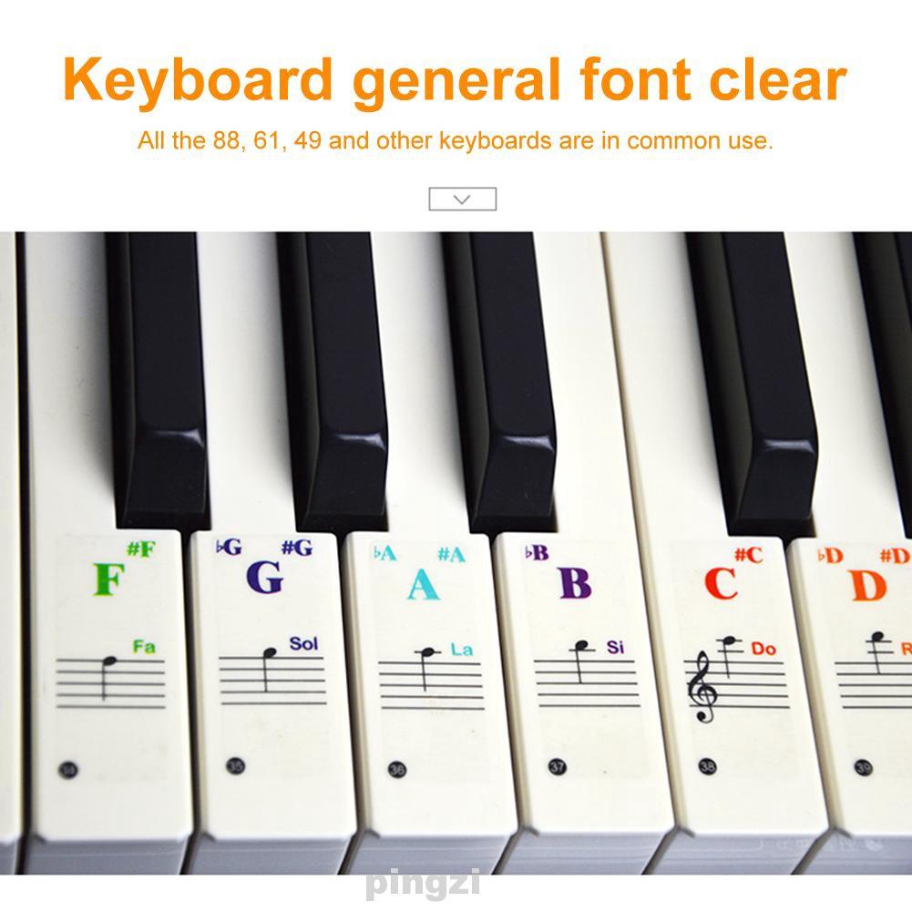 Stiker Keyboard Piano 88 49 61 Kunci Untuk Pemula Belajar Musik Shopee Indonesia