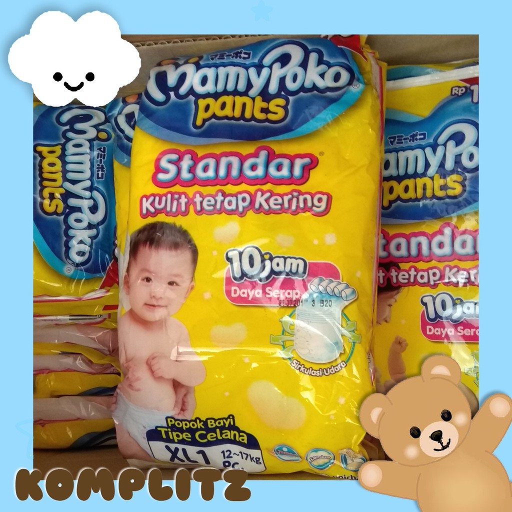 Mamy Poko Pants Xtra Kering Standar S40 M34 L30 Xl26 Xxl Mamypoko Extra Dry 24 Celana Shopee Indonesia