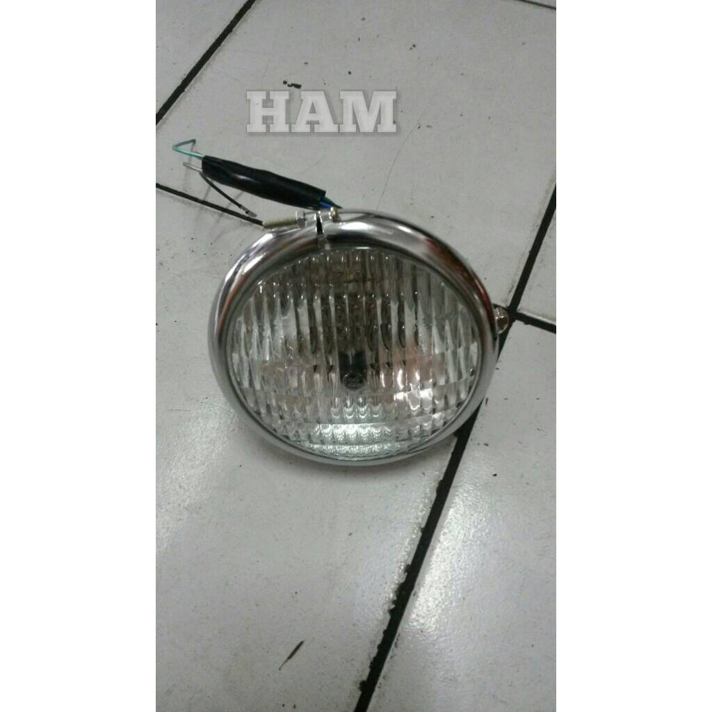 Lampu Depan Cb H4 Shopee Indonesia Headlamp M11c Dc Strobo M11 Led