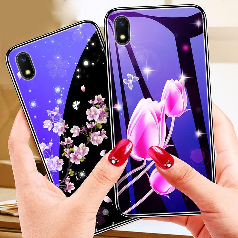 Casing Case Tpu Shockproof Motif Bunga Biru Untuk Vivo Y91c Shopee Indonesia
