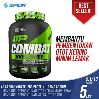 MP Musclepharm Combat 100% Whey Protein 5lbs 5 lb