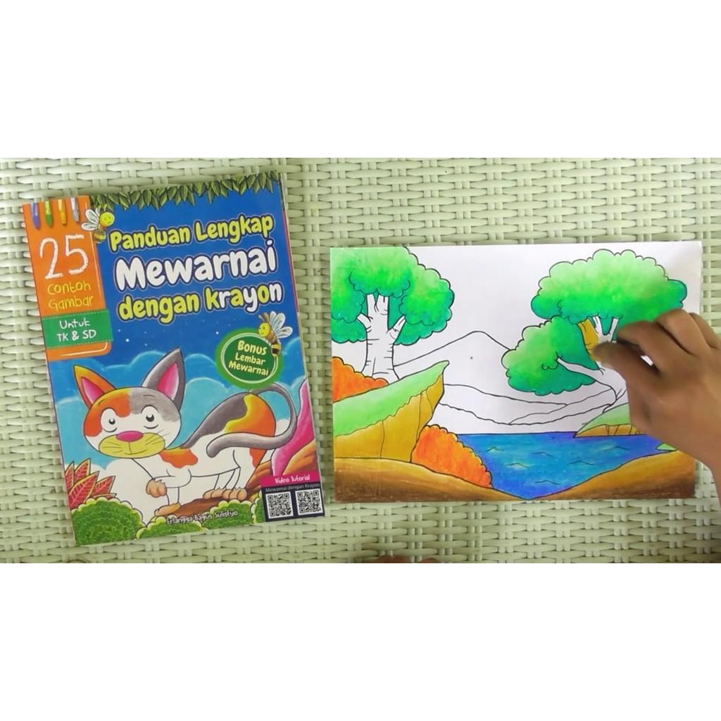Buku Anak Paud TK Panduan Lengkap Mewarnai Dengan Krayon