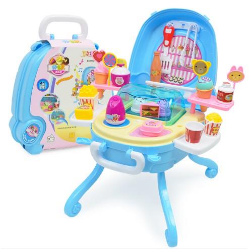 41 Pcs Mainan Anak Berpura Pura Bermain Alat Dapur Bermain Memasak Mainan Es Krim Shopee Indonesia