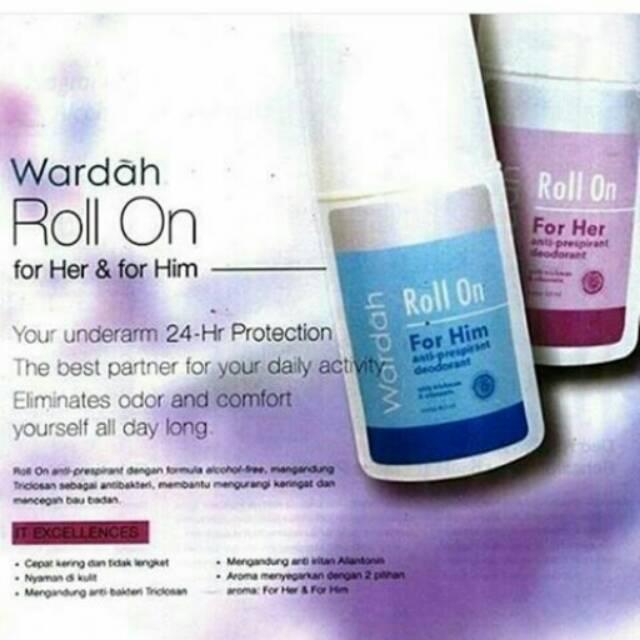 Wardah Roll-On For Him 60 ml - Wardah Roll On - Wardah Deodorant | Shopee Indonesia