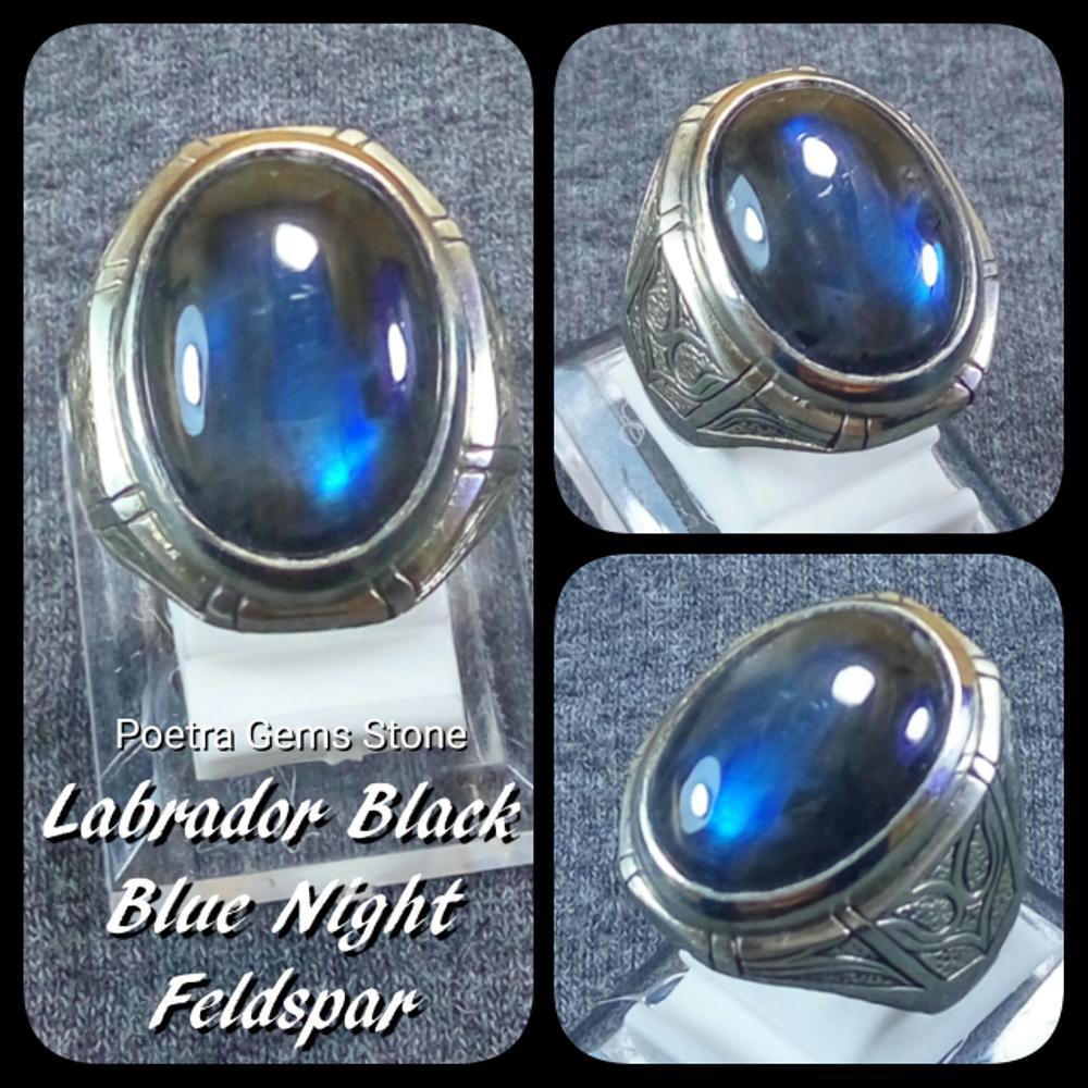 Paling Lariss Cincin Labrador Black Blue Night Feldspar Biru Ruuuaar Natural Topaz 1359 Ct Memo Biasa Bodyglas Asli Pt Shopee Indonesia