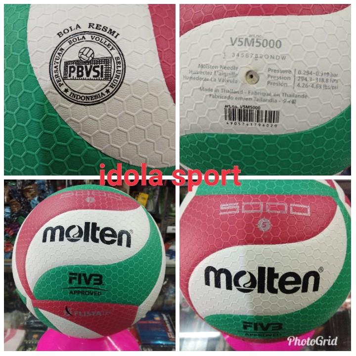 BOLA VOLY / VOLLEY / VOLI MOLTEN V5M 4200 ORIGINAL FIBA   Shopee Indonesia