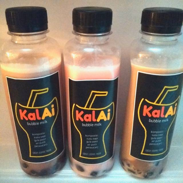 Es Bubble Boba Milk Susu Sapi Homemade Botol | Shopee Indonesia