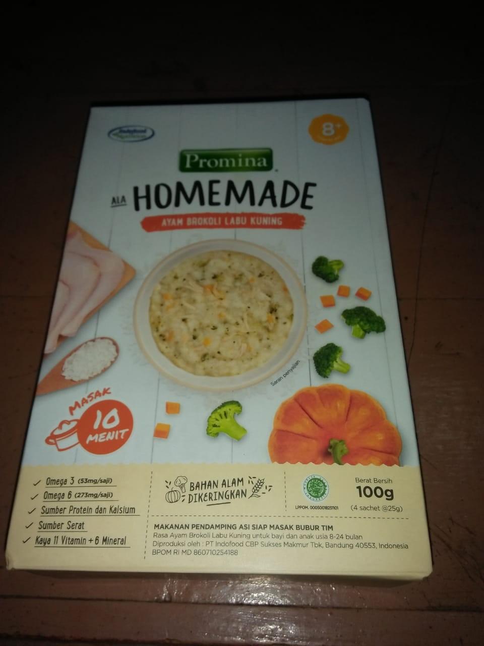 Promina Homemade 8 Mpasi Bubur Salmon Kentang Wortel Ayam Brokoli Labu Kuning Box 100gr Shopee Indonesia