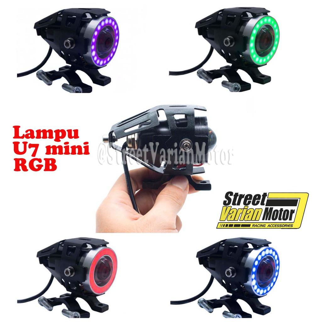 Lampu Tembak Spion Led Bulat Mini Ae De Shopee Indonesia Breket Supported Devil Aye Plus Angel Mirip U7 Waterproof Tembus Hujan