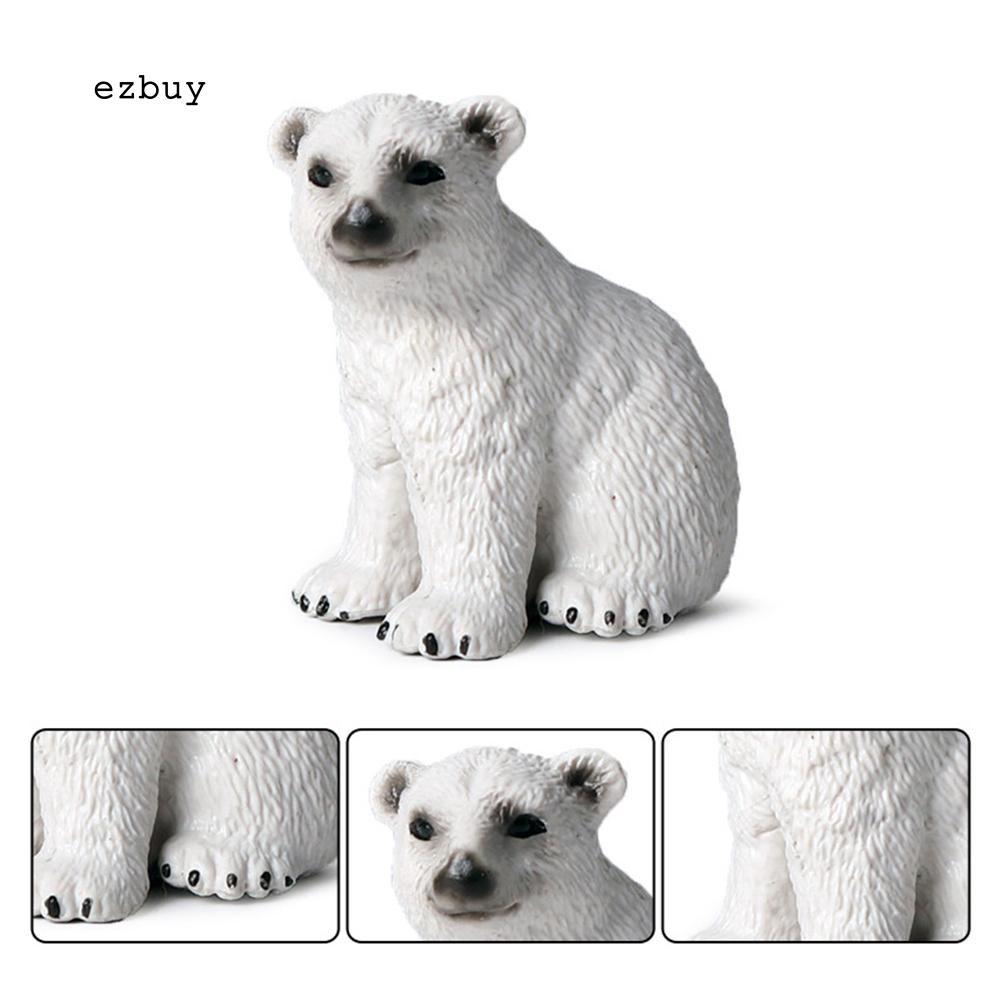 [FL] 1Pc Mainan Boneka Beruang Kutub Warna Putih Untuk Hadiah Anak