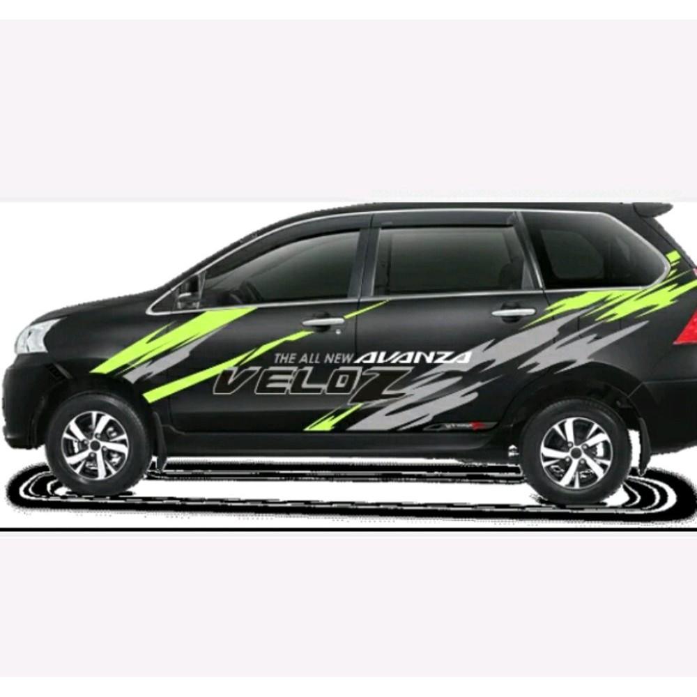 Cutting sticker striping mobil racing avanza xenia mpv suv terlaris