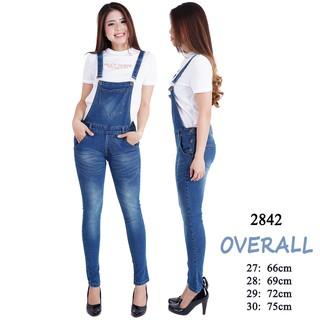 Baju Kekinian Playsuit Jumpsuit Jeans Polos Murah Wanita Jumbo Untuk Wanita Gemuk Ukuran Besar