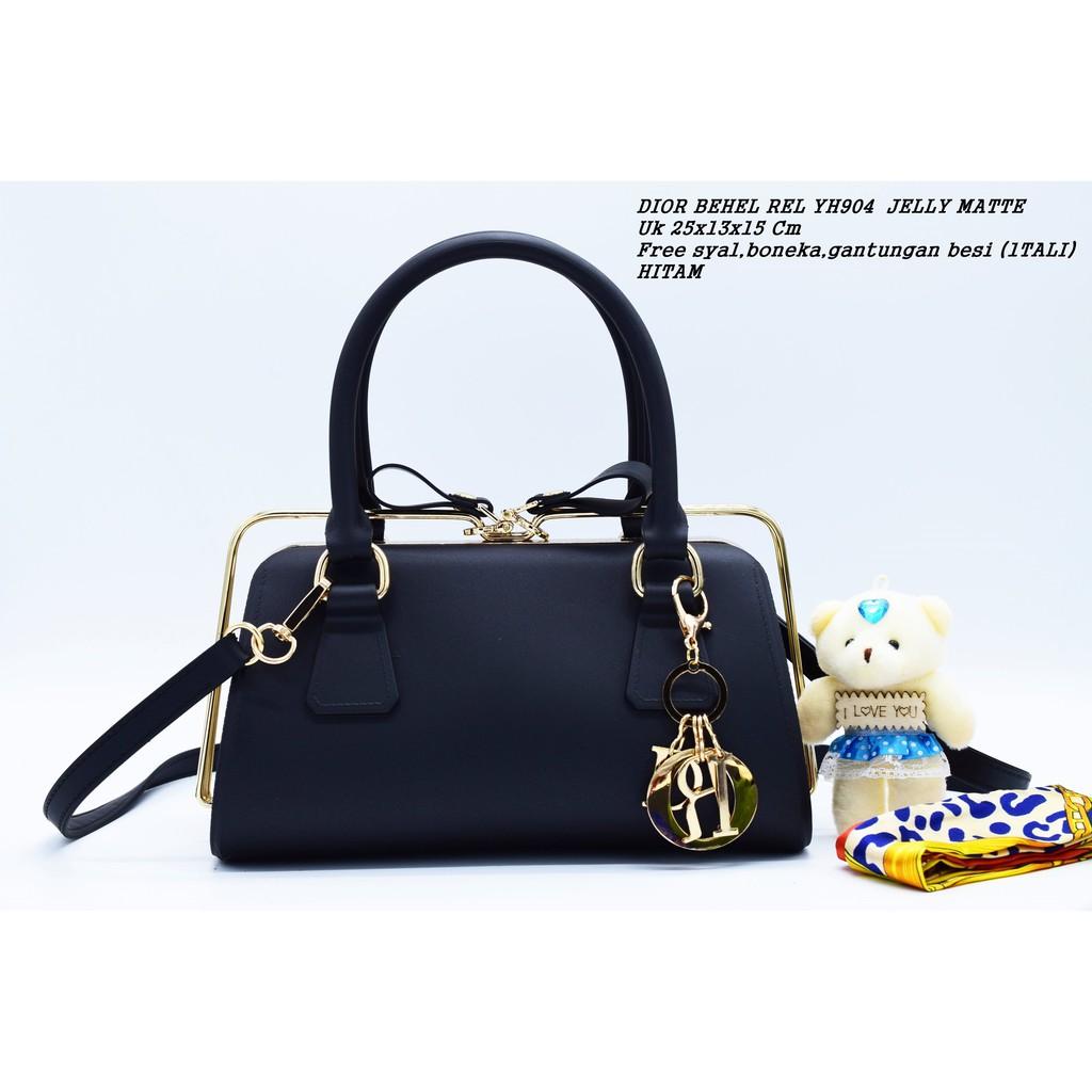 REAL PIC YH904 Fashion Jelly Matte Behel Rel HAND BAG ( Free Syal ... c16e6ba6fa