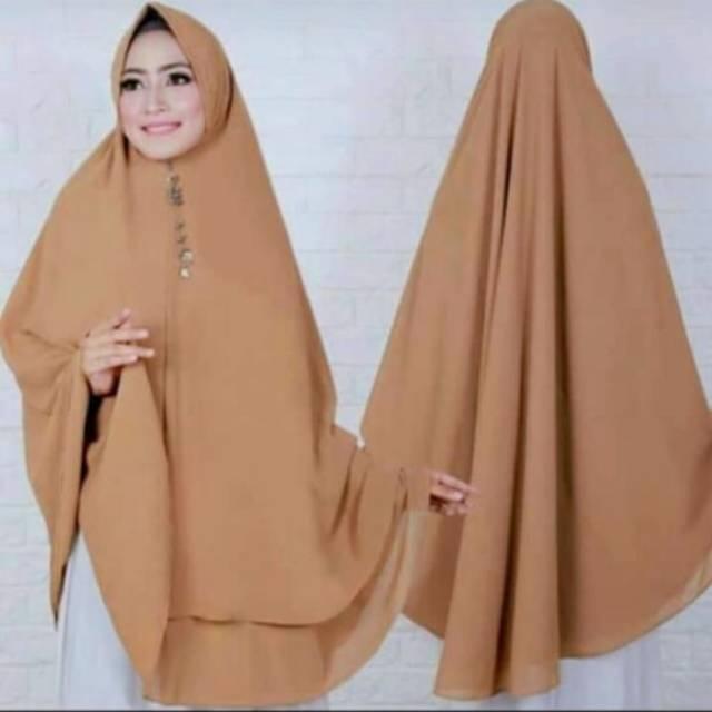 Hijab Khimar Ceruty Osd Vira Super Jumbo Xxl Jilbab Bergo Kerudung Ceruti Superjumbo Sakinah Syari Shopee Indonesia