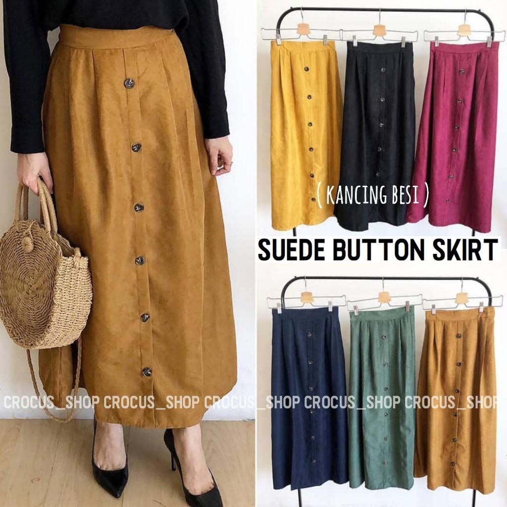 83b33a81a34f2d Rok Mory Button Skirt