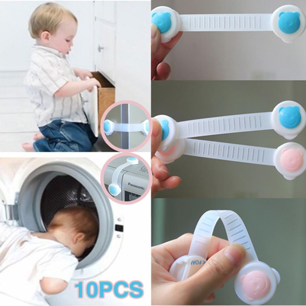 Perlengkapan Rumah 1pc Kunci Pengaman Perekat Laci Pintu Lemari Kulkas Baby Safety Lock Drawer Belt Untuk Keamanan Anak Shopee Indonesia