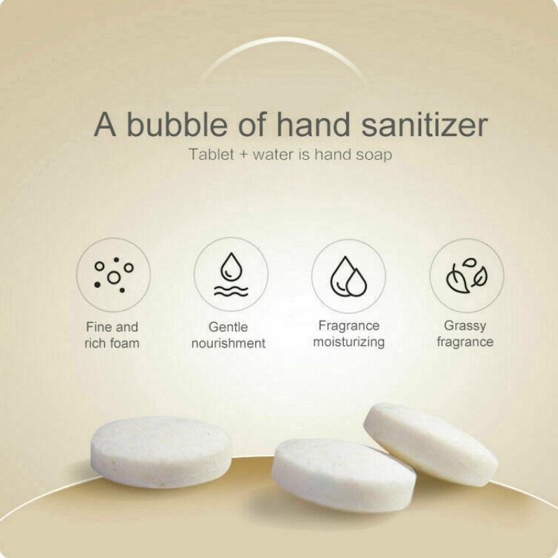 10pcs Effervescent Tablets Bottle Anti Pollution Hand Clean Effervescent Foam Hand Sanitizer Bottles Shopee Indonesia