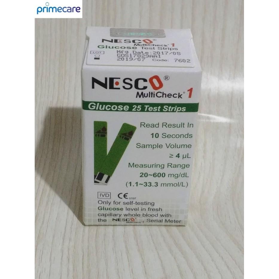 Best Seller Strip Nesco Gula Darah Glucose Shopee Indonesia Test Cek Refill Isi 25 Stick