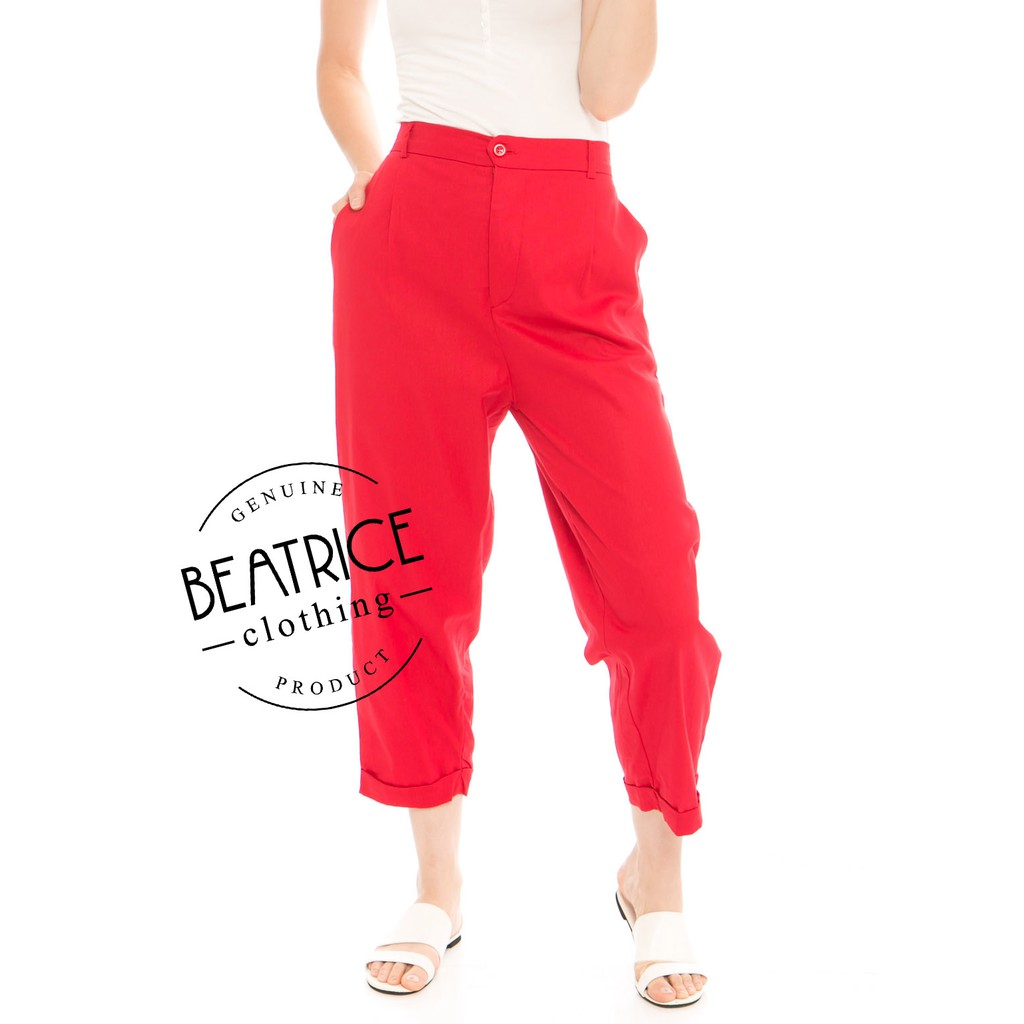 Beatrice Clothing Kama Linen Pants In Olive Shopee Indonesia Nesha