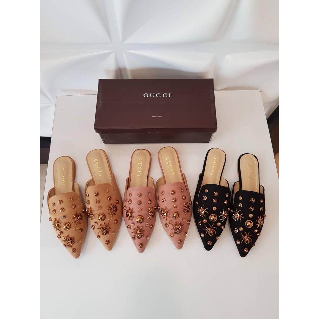 c089ee95bdf12 50645 Gucci Monica GG Slippers sandal import wanita cewek perempuan batam