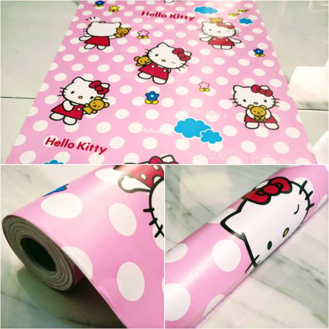Grosir Wallpaper Dinding Hello Kitty Ping Ukuran Panjang 10 Meter X Lebar 45cm Shopee Indonesia