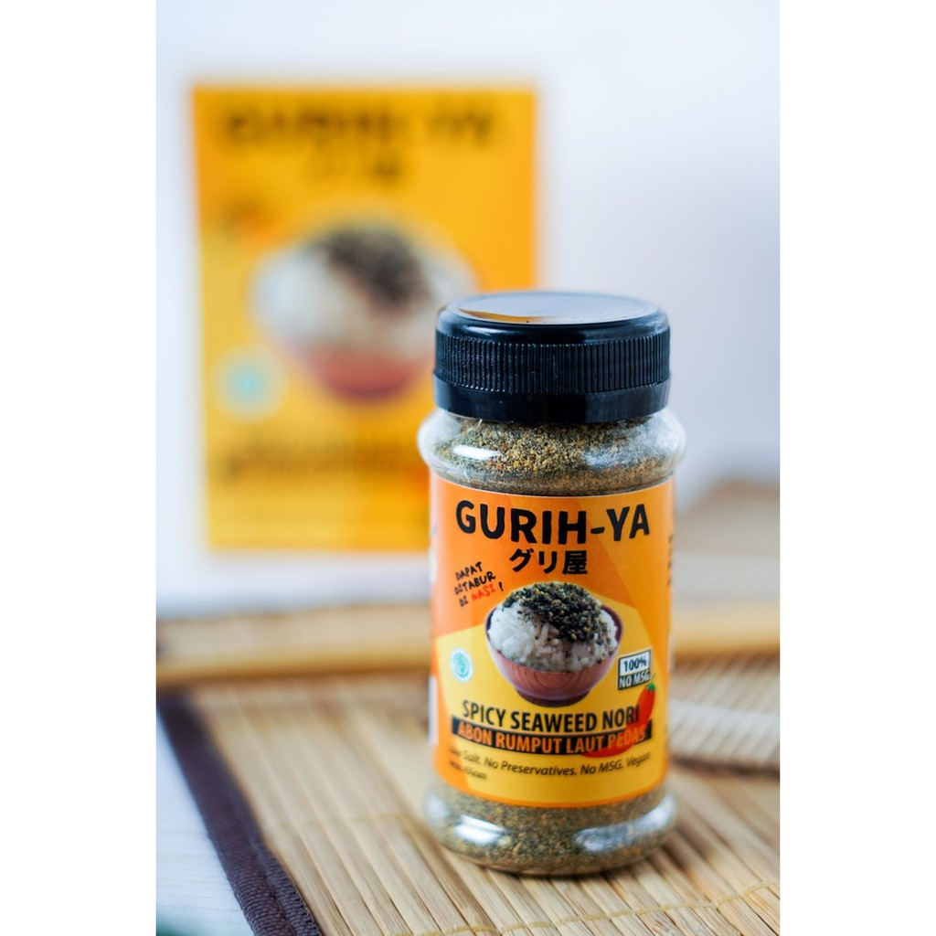 Gurih Ya Seaweed Nori Flakes Seasoning 45gr Abon Rumput Laut Bumbu Tabur Premium Vegan Non Msg Mpasi Anak Shopee Indonesia