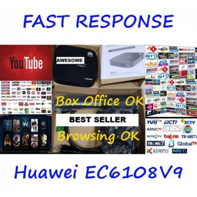 Terlaris STB Huawei EC6108V9 Game Ready RAM 2GB Full App 4K - Android Box  STB TV Box