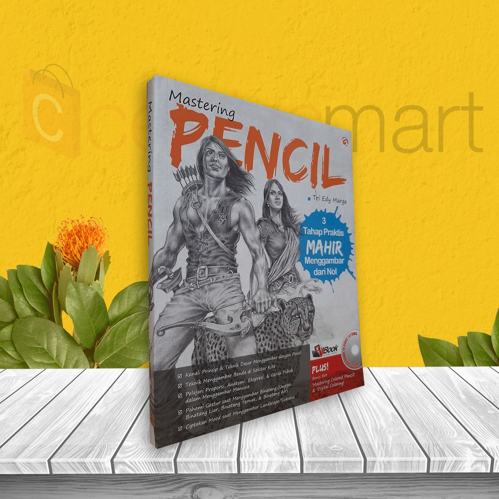 BUKU BELAJAR MENGGAMBAR MASTERING PENCIL BONUS DVD VBOOK 14 VIDEO TUTORIAL