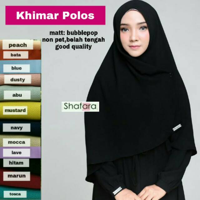 Khimar Polos Jilbab Instan Murah Jilbab Pengajian Jilbab Syari Eksklusif Jilbab Murah Non Pet Shopee Indonesia