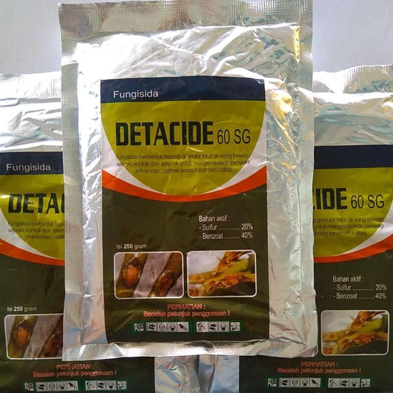 DETACIDE 60SG 250gram fungisida kontak sistemik untuk pathek,obat patek antraknosa,busuk buah
