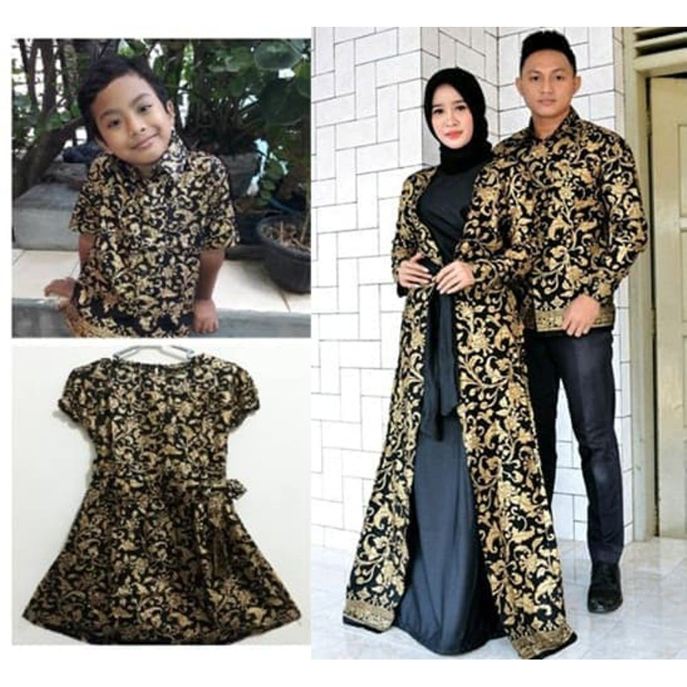 Couple batik keluarga sarimbit family baju seragam pesta ayah ibu anak  couple muslim Maheswari