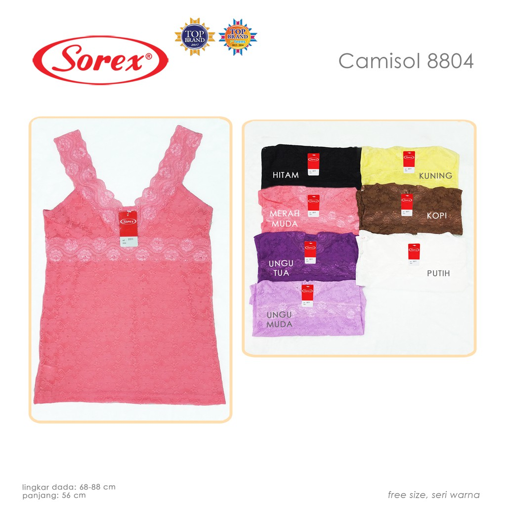 Penawaran Diskon Dan Promosi Dari Sorex Official Shop Shopee Indonesia Camisol Katun Adem 1010 Cream L