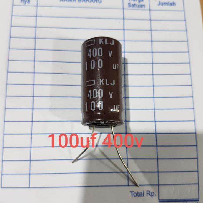 Elko Elco 100Uf 400Volt 100 Uf 400 Volt 400V