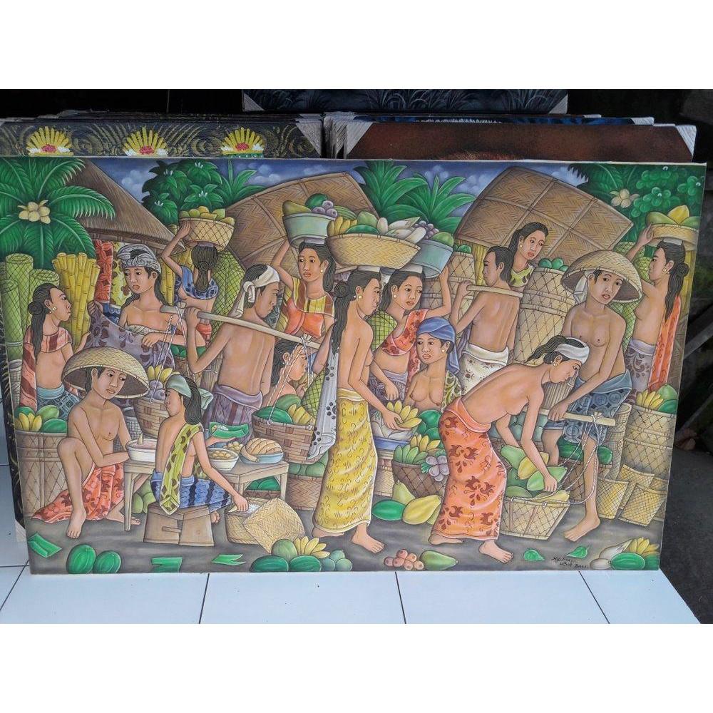 Lukisan Pasar Pagi N Chat Kami Utk Anda Dapat Harga Promo Koleksi