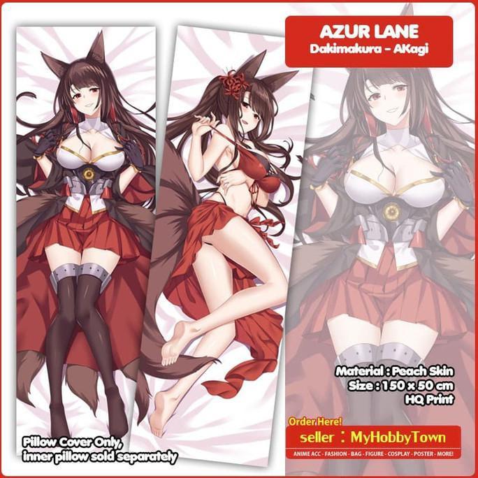 Sarung Bantal Anime Dakimakura Azur Lane : Akagi